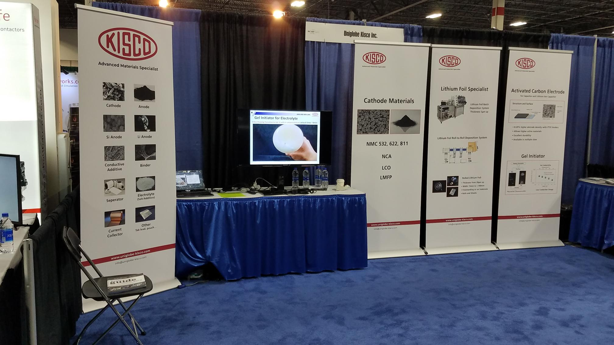 Uniglobe Kisco Battery Show Booth Title